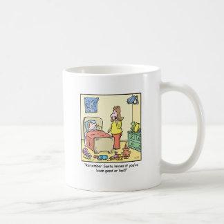 クリスマスの漫画のサンタの監視 コーヒーマグカップ
