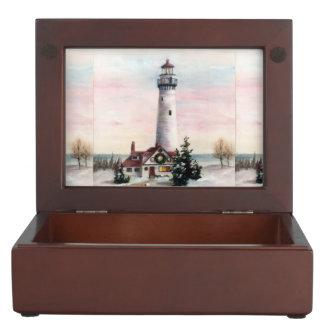 クリスマスの灯台 ジュエリーボックス