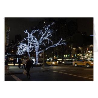 クリスマスの照明のブロードウェイの北西側NYCカード カード