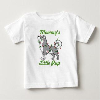 クリスマスの照明を持つ灰色のアラスカンマラミュート ベビーTシャツ