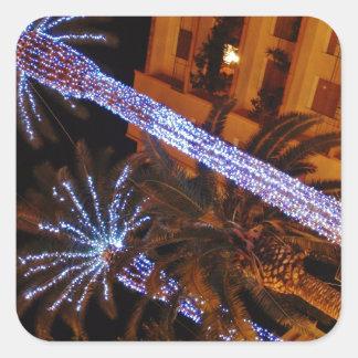 クリスマスの照明シシリー スクエアシール