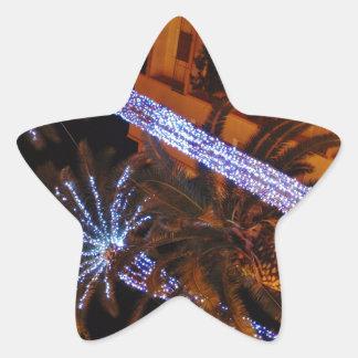 クリスマスの照明シシリー 星シール