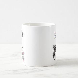 クリスマスの照明トナカイおよびくるみ割りのマグ コーヒーマグカップ