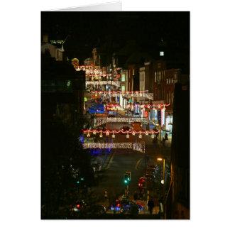 クリスマスの照明Guildford グリーティングカード
