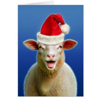クリスマスの熱のヒツジ カード