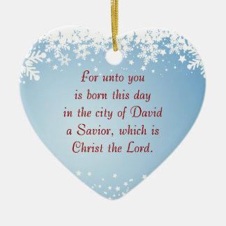 クリスマスの物語のルーク2のキリスト教のカスタマイズ可能 セラミックオーナメント