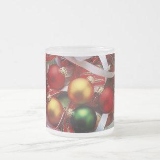 クリスマスの球ずっと フロストグラスマグカップ