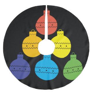 クリスマスの球の木のスカートの虹の木 ブラッシュドポリエステルツリースカート