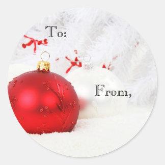 クリスマスの球の装飾のギフトのステッカー ラウンドシール