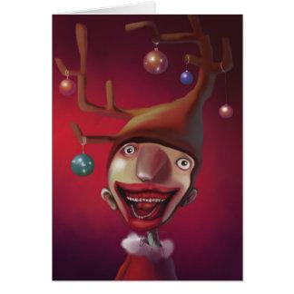 クリスマスの男の子 カード