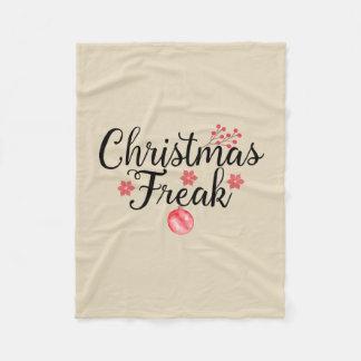 クリスマスの異常なタイポグラフィ フリースブランケット