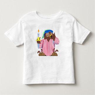 クリスマスの眠いフクロウ トドラーTシャツ