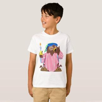 クリスマスの眠いフクロウ Tシャツ