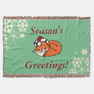 クリスマスの睡眠のキツネ スローブランケット