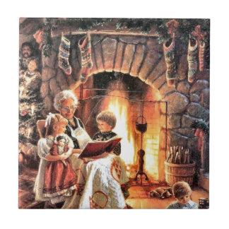 クリスマスの祖母との物語の本の時間 タイル