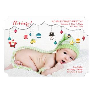 クリスマスの移動式写真カード カード