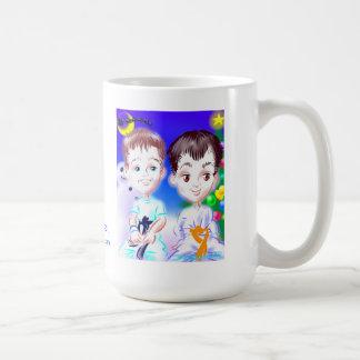 クリスマスの空手の風刺漫画のマグ コーヒーマグカップ