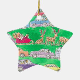 クリスマスの突進、星の装飾 セラミックオーナメント
