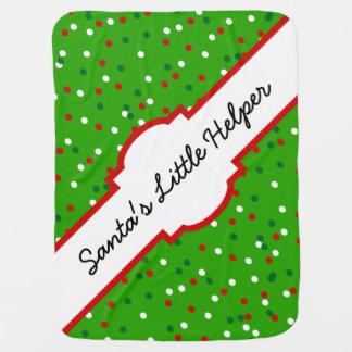 クリスマスの紙吹雪 • クリスマスツリーは振りかけます ベビー ブランケット