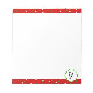 クリスマスの紙吹雪 •  猛烈なシナモンは振りかけます ノートパッド