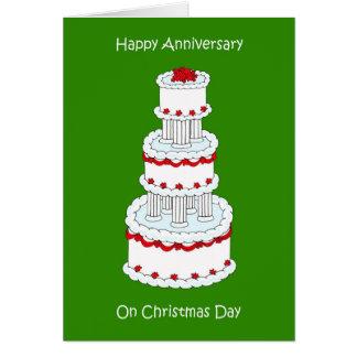 クリスマスの結婚記念日、12月25日 カード