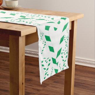 クリスマスの緑のキャンディ・ケーンのテーブルのランナー ショートテーブルランナー
