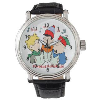 クリスマスの聖歌隊の腕時計 腕時計