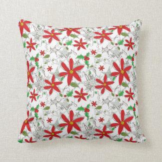 クリスマスの落書きの枕 クッション
