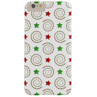 クリスマスの落書きのiPhone 6のプラスのやっとそこに場合 Barely There iPhone 6 Plus ケース