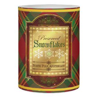 クリスマスの薬剤師の雪片のラベルの蝋燭 LEDキャンドル