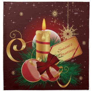 クリスマスの蝋燭のナプキン 布製ナプキン