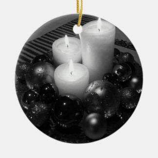 クリスマスの蝋燭 セラミックオーナメント