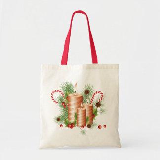 クリスマスの蝋燭 トートバッグ