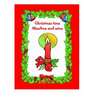 クリスマスの蝋燭 ポストカード
