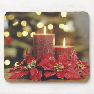 クリスマスの蝋燭 マウスパッド