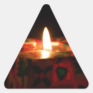 クリスマスの蝋燭 三角形シール