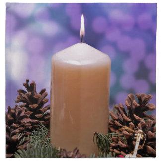クリスマスの蝋燭 布製ナプキン