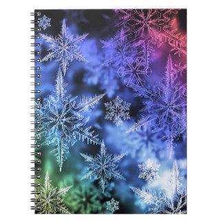 クリスマスの螺線形の写真のノート ノートブック