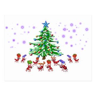 クリスマスの蟻ticipation ポストカード