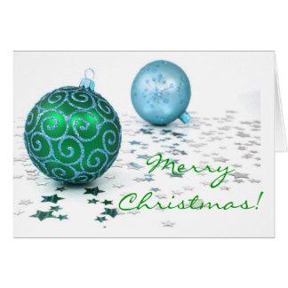 クリスマスの装飾の色I グリーティングカード