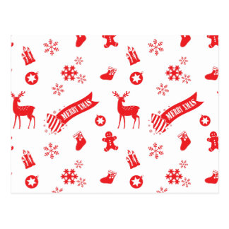 クリスマスの要素 ポストカード