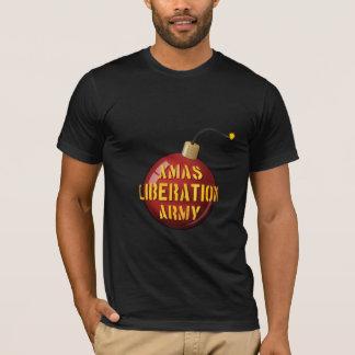 クリスマスの解放の軍隊の爆弾の暗闇のTシャツ Tシャツ