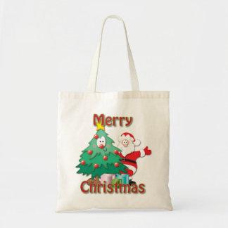 クリスマスの買い物袋 トートバッグ