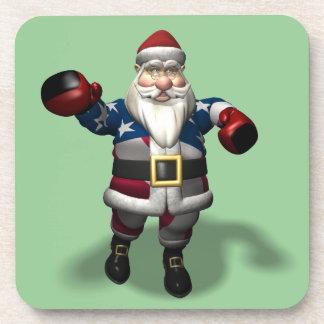クリスマスの贈物日のサンタクロース コースター
