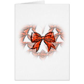 クリスマスの赤い弓illusionizedクリスマスカード カード