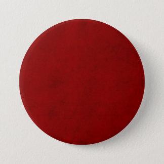 クリスマスの赤い深紅色の硫酸紙のテンプレート 7.6CM 丸型バッジ