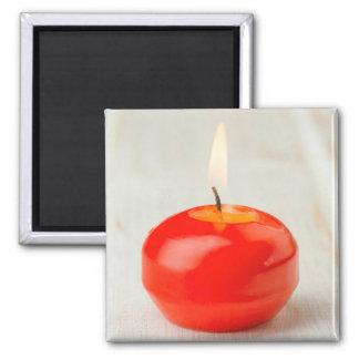クリスマスの赤い蝋燭のLit マグネット