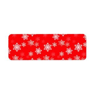 クリスマスの赤い雪突風 ラベル