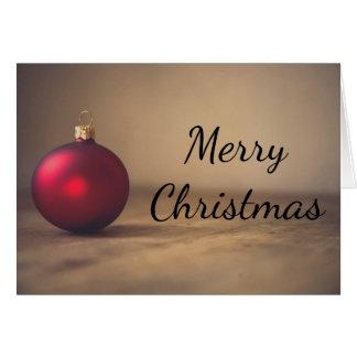 クリスマスの赤いbaubelの装飾の挨拶状 カード