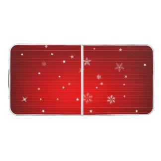 クリスマスの赤いSnowy Pongのテーブル ビアポンテーブル